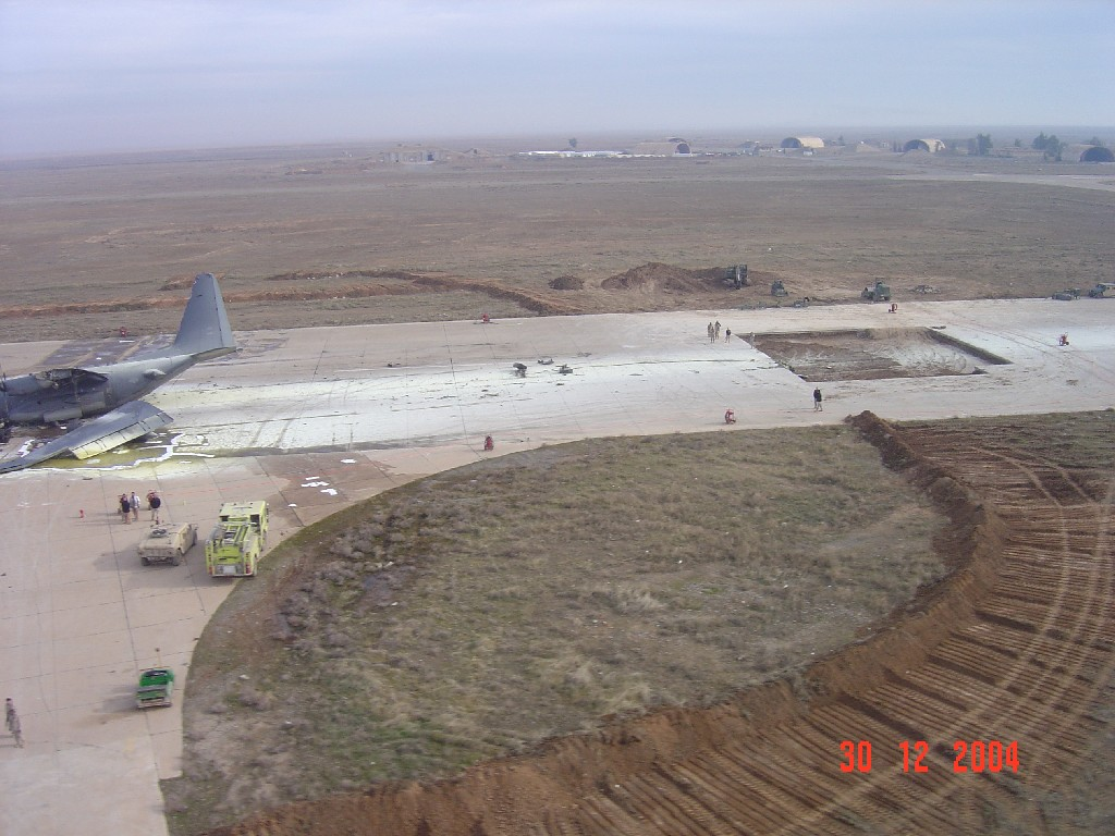 Overview of crashed C130